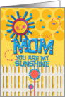 Happy Mother's Day Mom You Are My Sunshine card