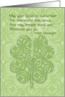 Happy St. Patrick's Day Irish Blessing Four Leaf Clover card