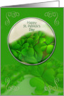 Happy St. Patrick's Day Shamrocks and Swirls card
