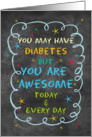 Juvenile Diabetes Encouragement Feel Better Chalkboard and Stars card
