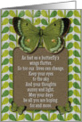 Encouragement Thinking of You Butterflies and Leaves card