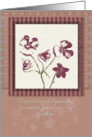 Expressions of Sympathy for Suicide Violet Flowers card