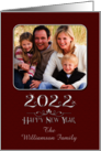 Happy New Year 2017 Custom Name And Photograph Sparkling Burgundy card