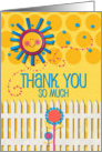Thank You So Much Sunshine and Flowers Scrapbook Style card