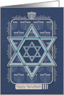 Happy Hanukkah Celebrate Star of David and Menorah card