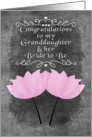 Engagement Congratulations for Granddaughter and her Bride to Be card