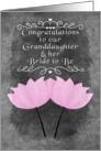 Engagement Congratulations to our Granddaughter and her Bride to Be card