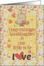 Engagement Congratulations to Granddaughter & her Bride to Be Hearts card