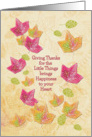 Happy Thanksgiving Give Thanks for the Little Things Pretty Leaves card