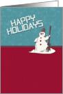 Happy Holidays Happy Snowman Holiday Greetings card