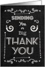 Thank You Chalkboard Style Typography and Swirls card