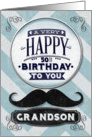 Happy 50th Birthday Grandson Mustache and Chevrons card