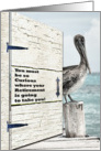 Congratulations on Retirement Oceans of Possibilities Pelican and Door card