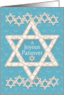 Happy Passover Joyous Passover Star of David Pattern card