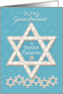 Happy Passover to Grandparents Joyous Passover Star of David Pattern card