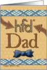 Father's Day for Dad Fun Bowtie and Masculine Patterns Scrapbook Style card
