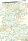 Happy Mother's Day Beautiful Flower Mother Pretty Botanical Pattern card