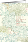 Happy Mother's Day for Partner Beautiful Flower Pretty Botanical card
