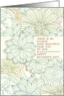 Happy Mother's Day Mum Beautiful Flower Pretty Botanical Pattern card