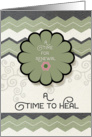 Addiction Recovery Encouragement Renewal and Healing Flower card
