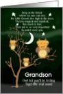 Get Well Soon Grandson for Kids Children's Fantasy Animal Tiger Ow card