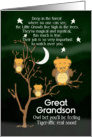Get Well Soon Great Grandson for Kids Fantasy Animal Tiger Ow card