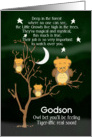 Get Well Soon Godson for Kids Fantasy Animal Tiger Owl card