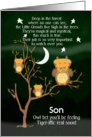 Get Well Soon for Son for Kids Children's Fantasy Animal Tiger Owl card
