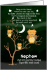 Get Well Soon for Nephew for Kids Children's Fantasy Animal Tiger Owl card
