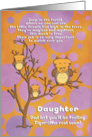 Get Well Soon Daughter Cute for Kids Fantasy Animal Tiger Owl card