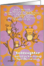 Get Well Soon for Goddaughter for Kids Cute Fantasy Animal Tiger Owl card