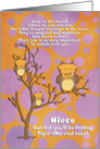 Get Well Soon for Niece for Kids Cute Fantasy Animal Tiger Owl card
