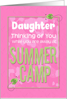 Thinking of You Daughter Away at Summer Pink Camp Camo Ladybugs card