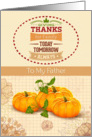 Thanksgiving to Father Holiday Pumpkins &Trendy Word Art card