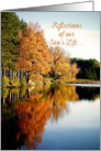 Sympathy Loss of our Son Autumn Lake Reflections Memories card