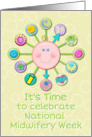Midwifery Week Celebration Baby Clock with Baby Icons card