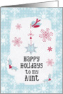 Happy Holidays to my Aunt Snowflakes Pretty Winter Scene card