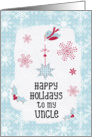 Happy Holidays to my Uncle Snowflakes Pretty Winter Scene card