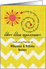 Happy House Anniversary Custom Name from Realtor Business to Customer card