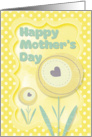 Happy Mother's Day Stylized Flowers and Polka Dots Scrapbook Style card