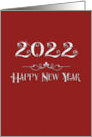 Happy New Year 2017 Sparkling Burgundy Sophisticated Modern card