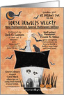 Happy 1st Halloween in your New House Magazine Cover Haunted House card