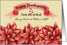 Happy Thanksgiving from Business Custom Business Name Flowers card