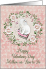 Happy Valentine's Day to Mother-in-Law to Be Pretty Kitty Hearts Roses card