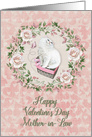 Happy Valentine's Day to Mother-in-Law Pretty Kitty Hearts Roses card