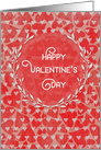 Happy Valentine's Day Lots of Hearts with Pretty Wreath card