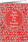 Happy Valentine's Day to Boyfriend Lots of Hearts with Vine Wreath card