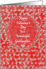 Happy Valentine's Day to Goddaughter Lots of Hearts with Vine Wreath card