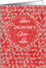 Happy Valentine's Day to Mom Lots of Hearts with Vine Wreath card
