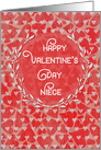 Happy Valentine's Day to Niece Lots of Hearts with Vine Wreath card